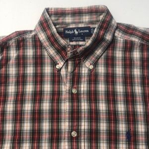 RAKPH LAUREN POLO Mens Large Plaid Dress Shirt